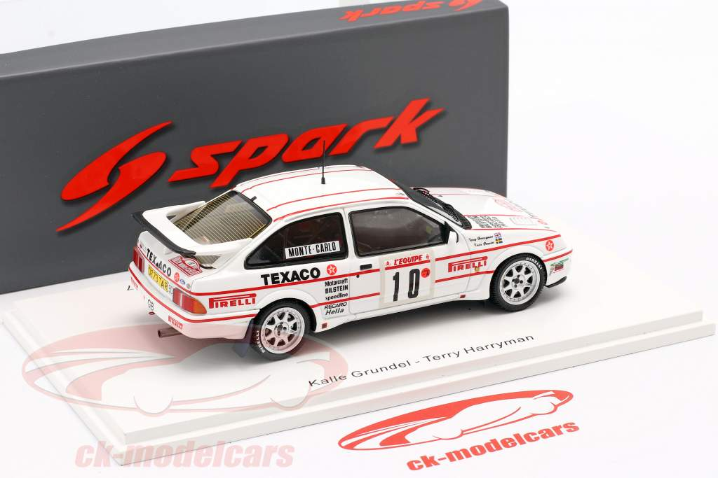 Ford Sierra RS Cosworth #10 Rallye Monte Carlo 1987 Grundel, Harryman 1:43 Spark