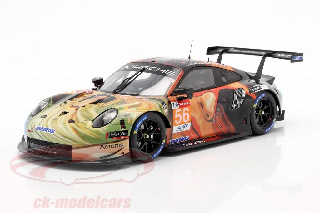 Porsche 911 RSR #56 Klasse winnaar LMGTE Am 24h LeMans 2019 Team Project 1 1:18 Spark