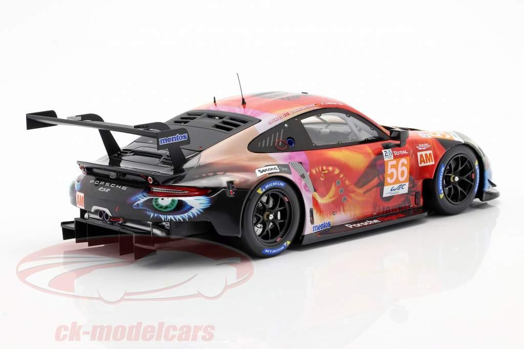 Porsche 911 RSR #56 Gagnant de la classe LMGTE Am 24h LeMans 2019 Team Project 1 1:18 Spark