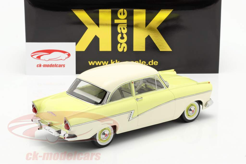 Ford Taunus 17M P2 Baujahr 1957 hellgelb / weiß 1:18 KK-Scale