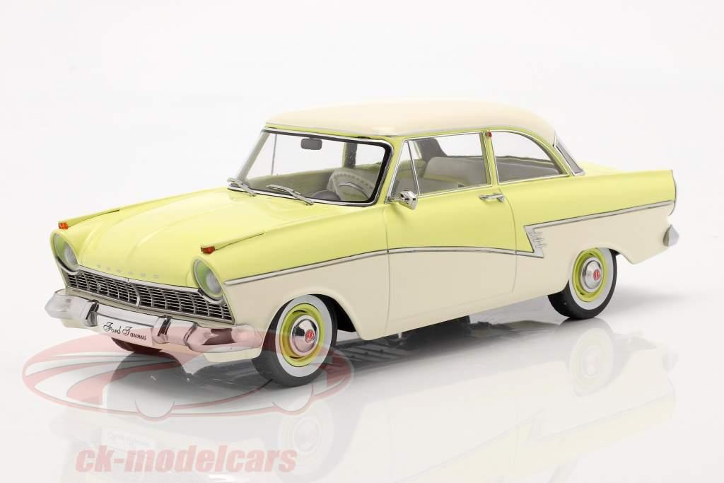 Ford Taunus 17M P2 Anno di costruzione 1957 giallo chiaro / bianca 1:18 KK-Scale