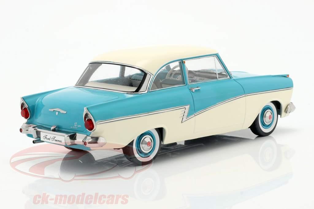 Ford Taunus 17M P2 Año de construcción 1957 turquesa / Blanco 1:18 KK-Scale