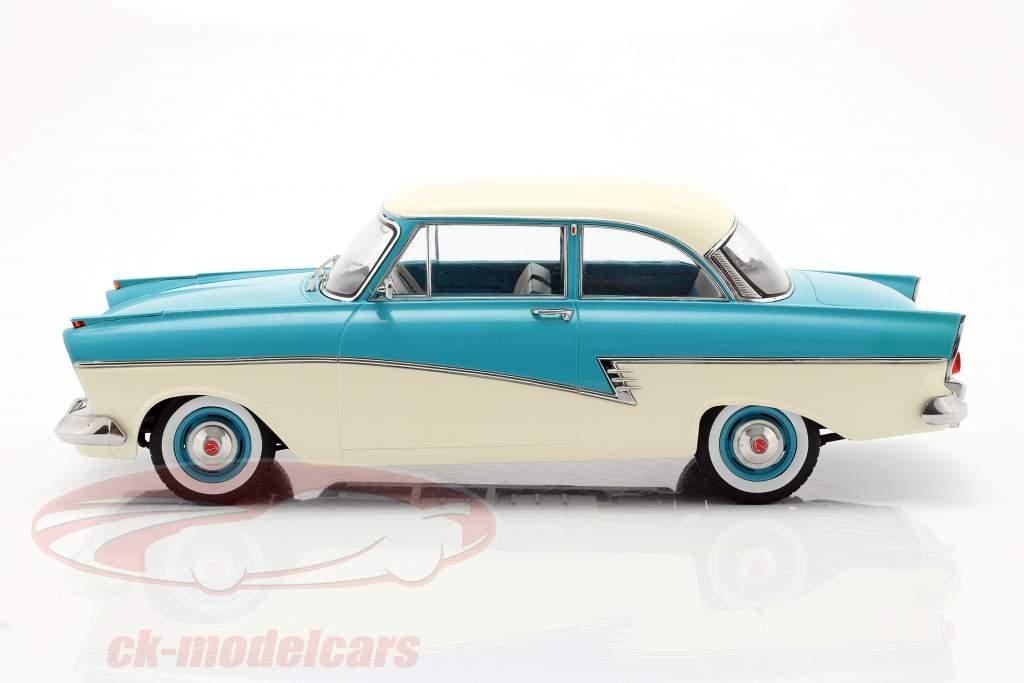 Ford Taunus 17M P2 year 1957 turquoise / white 1:18 KK-Scale