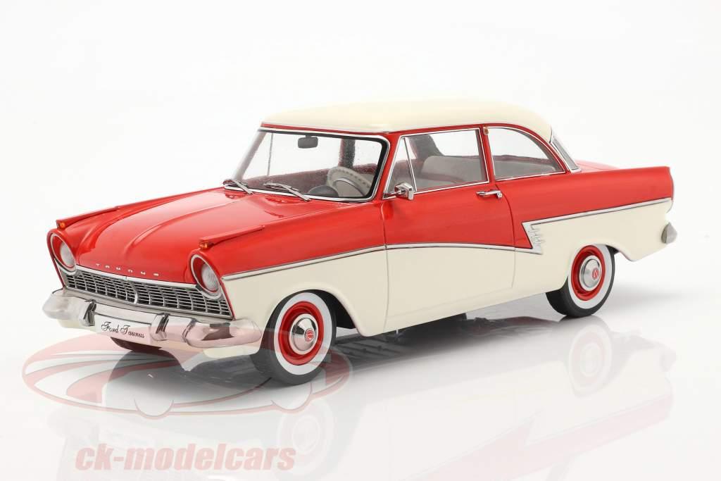 Ford Taunus 17M P2 Année de construction 1957 rouge / blanc 1:18 KK-Scale