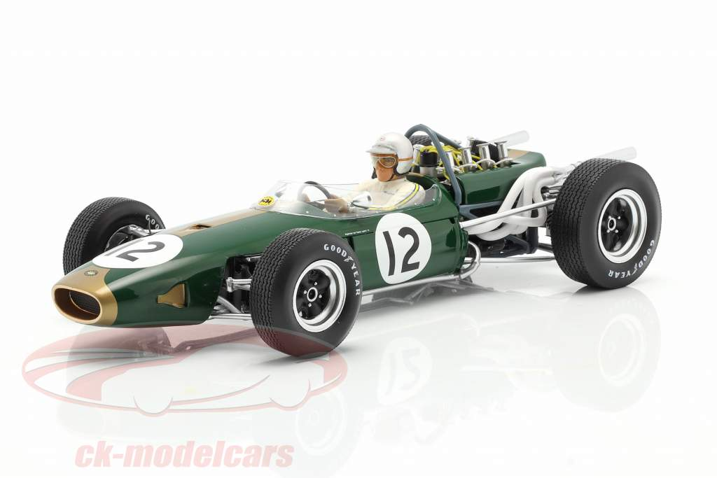Jack Brabham Brabham BT19 #12 Campione del mondo Francia GP formula 1 1966 1:18 Spark