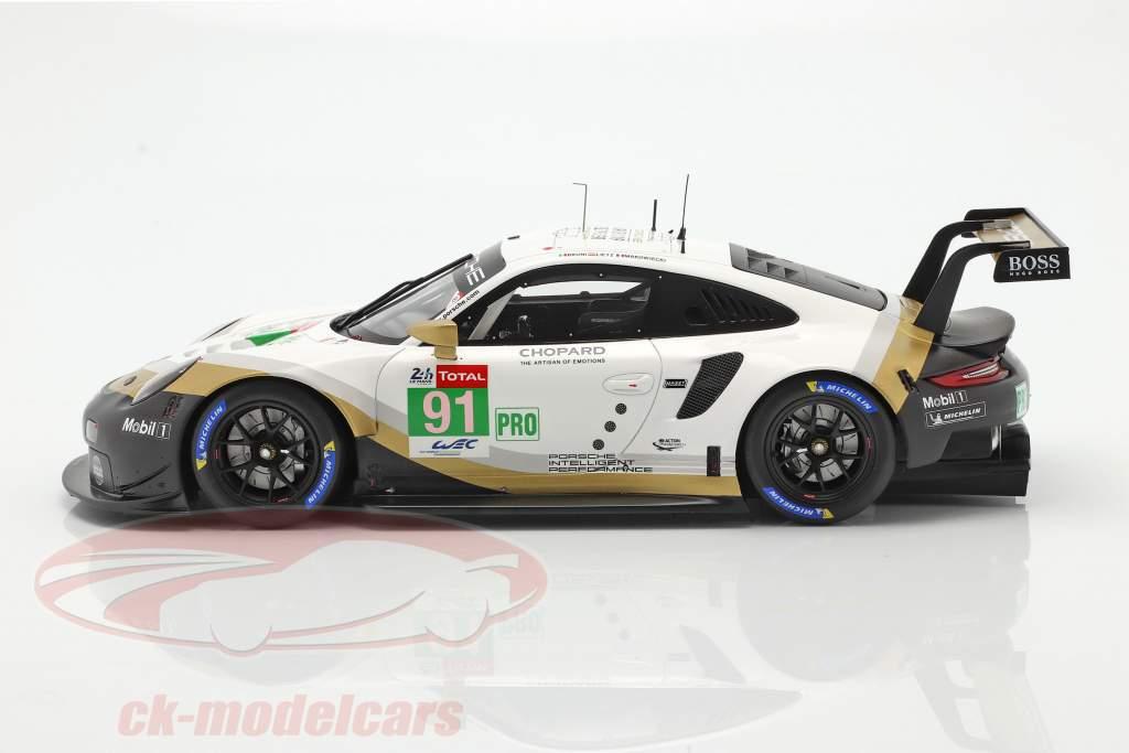 Porsche 911 RSR GTE #91 2 ° LMGTE Pro 24h LeMans 2019 Porsche GT Team 1:18 Spark