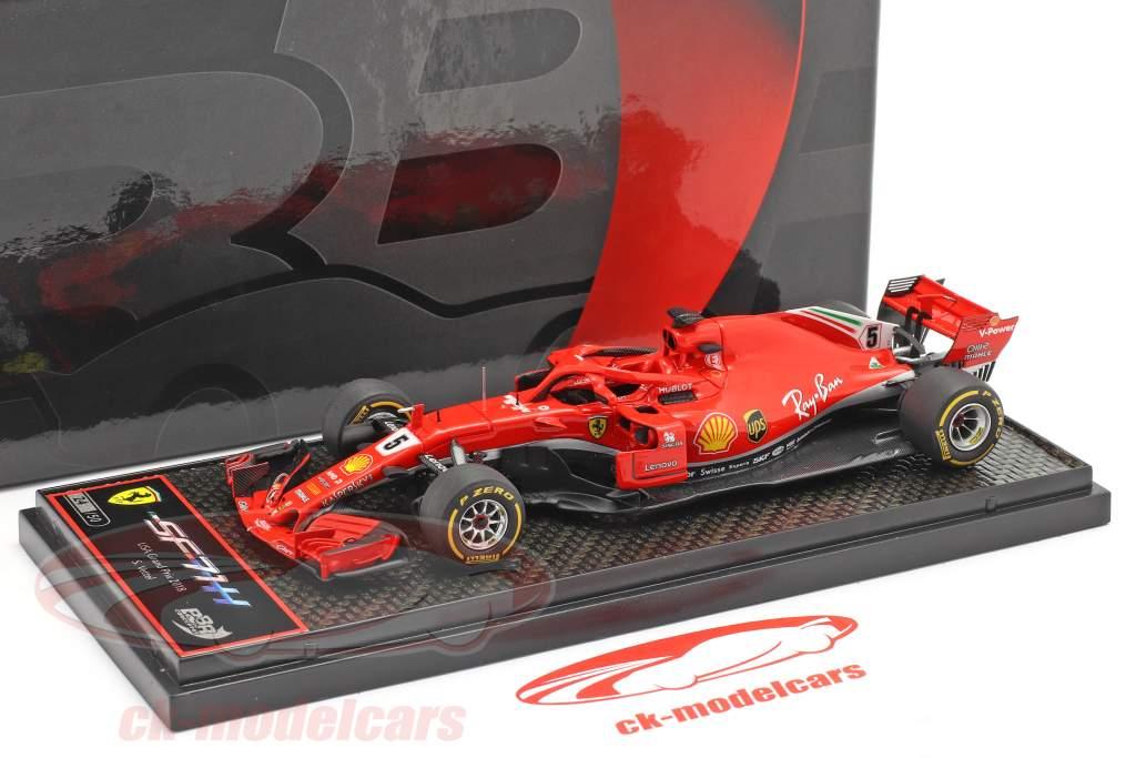 Sebastian Vettel Ferrari SF71H #5 Forenede Stater GP formel 1 2018 1:43 BBR