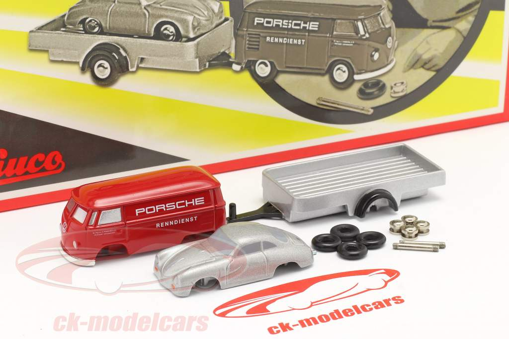 Porsche Racing service Samlingsboks Til det lille Racermekaniker 1:90 Schuco Piccolo