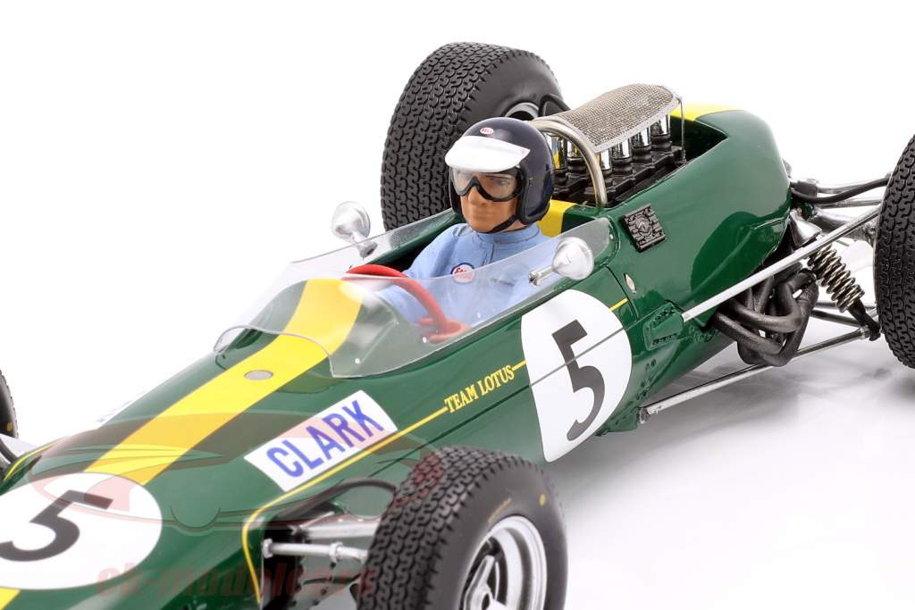 Jim Clark Lotus 33 #5 Wereldkampioen Groot Brittanië GP formule 1 1965 1:18 Spark