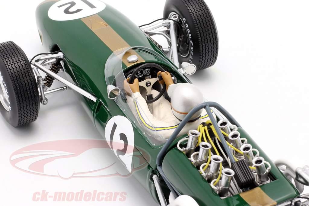 Jack Brabham Brabham BT19 #12 Wereldkampioen Frankrijk GP formule 1 1966 1:18 Spark