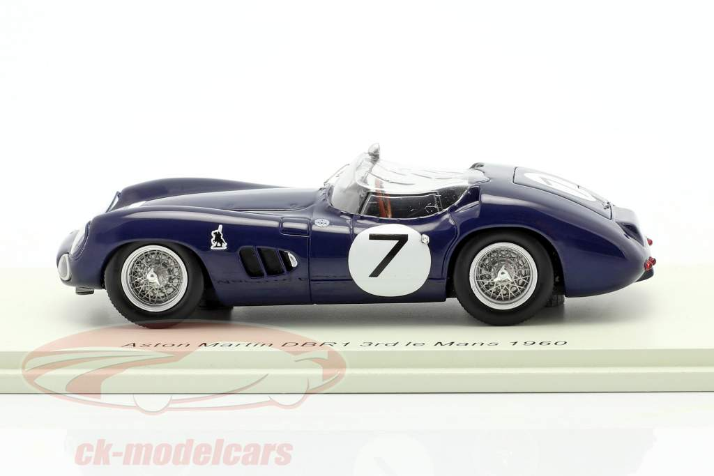 Aston Martin DBR1//300 #7 3e 24h LeMans 1960 Clark, Salvadori 1:43 Spark