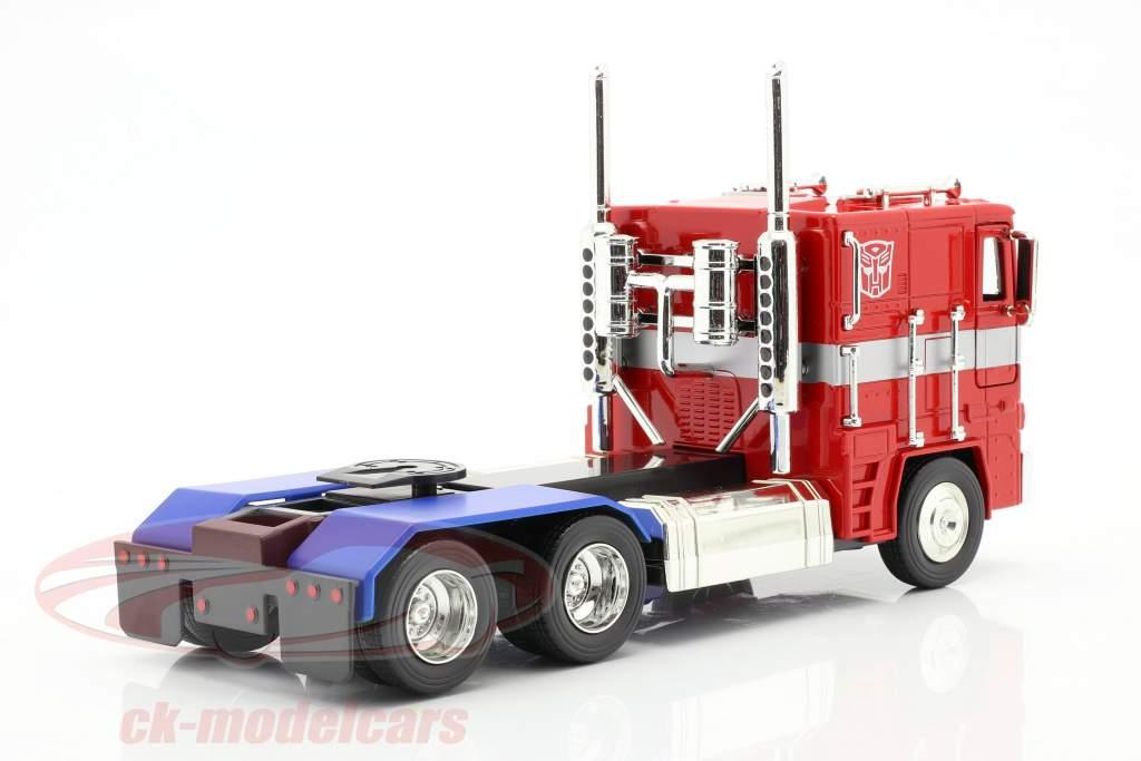 Autobot G1 Optimus Prime Film Transformers (2007) rosso / blu 1:24 Jada Toys