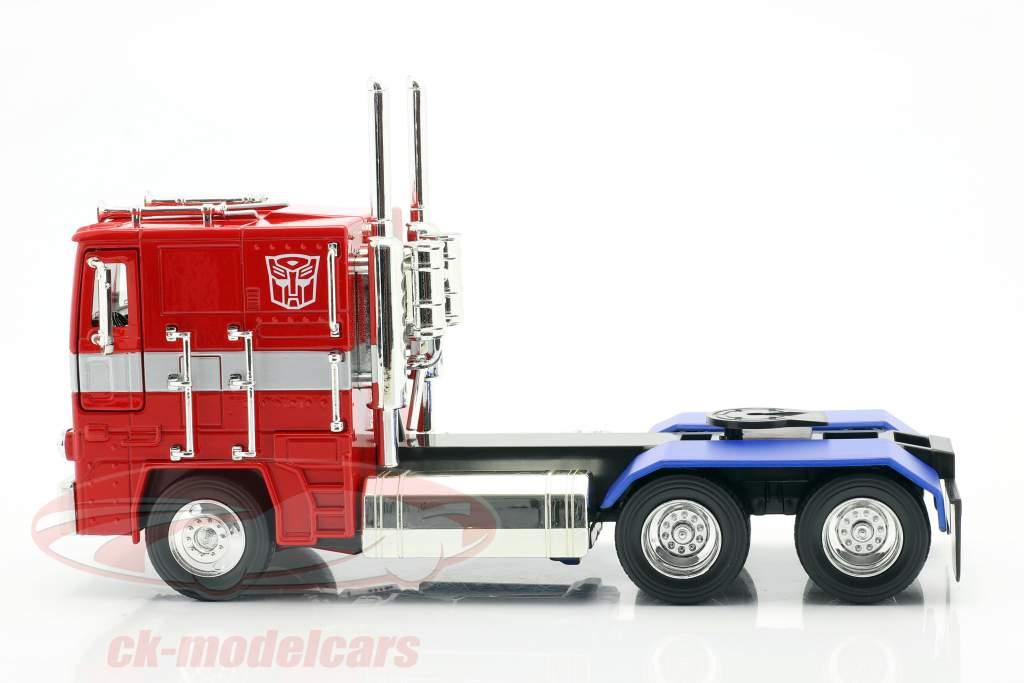 Autobot G1 Optimus Prime Filme Transformers (2007) vermelho / azul 1:24 Jada Toys