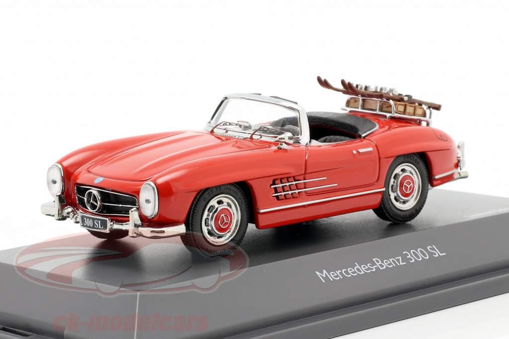 Mercedes-Benz 300 SL Roadster (W198) Vacances au ski Année de construction 1957-1963 rouge 1:43 Schuco