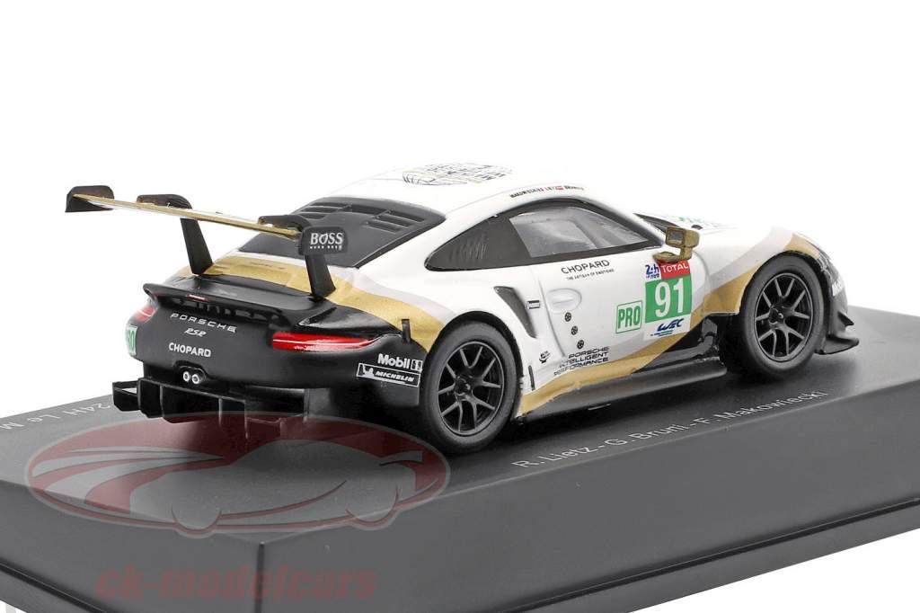 Porsche 911 RSR GTE #91 2 ° LMGTE Pro 24h LeMans 2019 Porsche GT Team 1:64 Spark