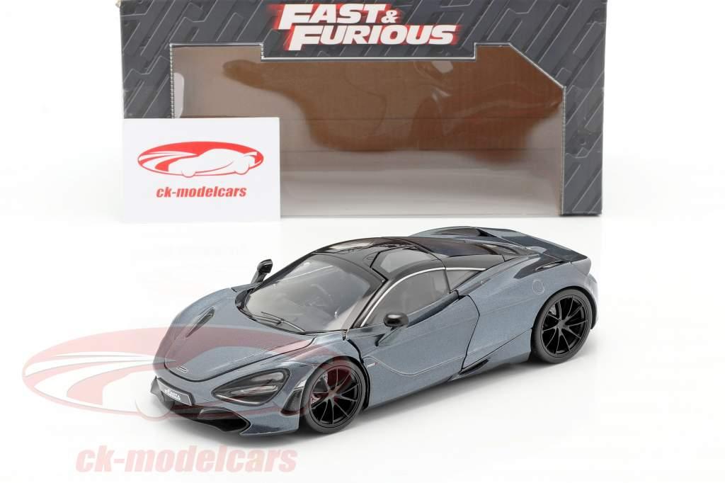 Shaw's McLaren 720S フィルム Fast & Furious Hobbs & Shaw (2019) グレー メタリック 1:24 Jada Toys