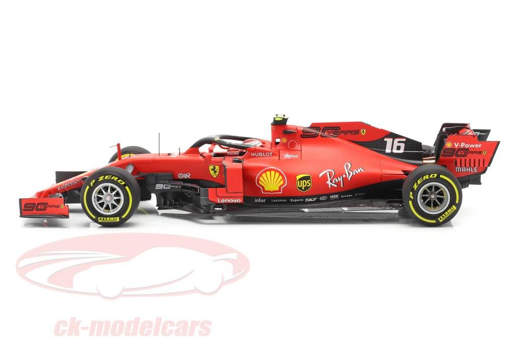 Charles Leclerc Ferrari SF90 #16 1st F1 Vinde belgisk GP 2019 1:18 BBR