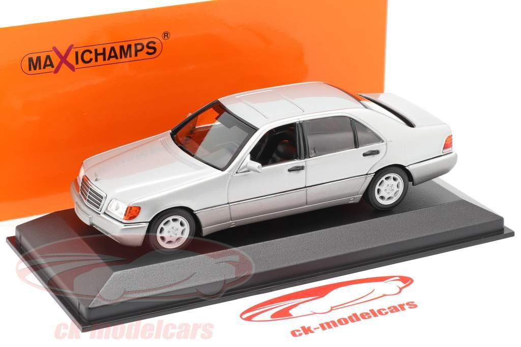 Mercedes-Benz 600 SEL (W140) Bouwjaar 1992 zilver metalen 1:43 Minichamps