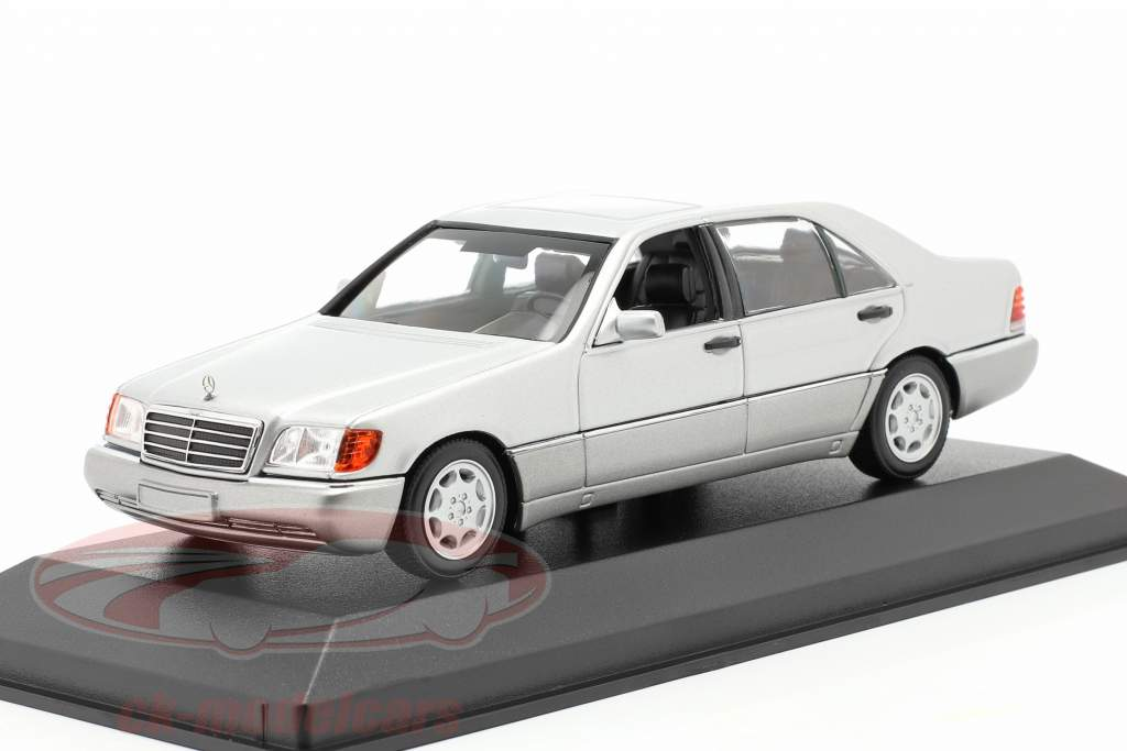 Mercedes-Benz 600 SEL (W140) Année de construction 1992 argent métallique 1:43 Minichamps