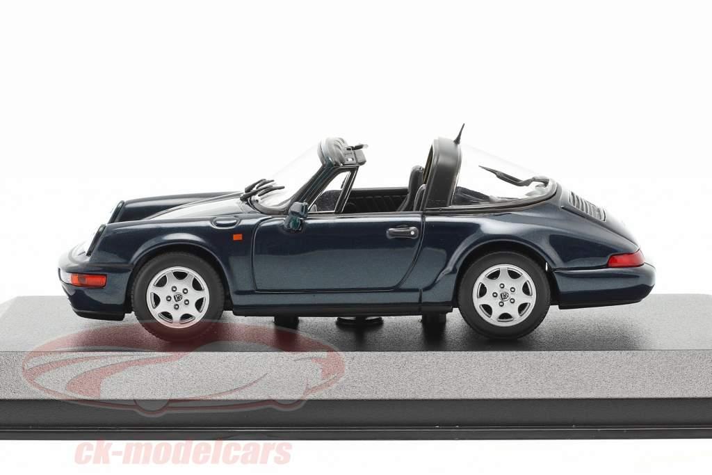 Porsche 911 (964) Carrera 2 Targa 1991 verde scuro metallico 1:43 Minichamps