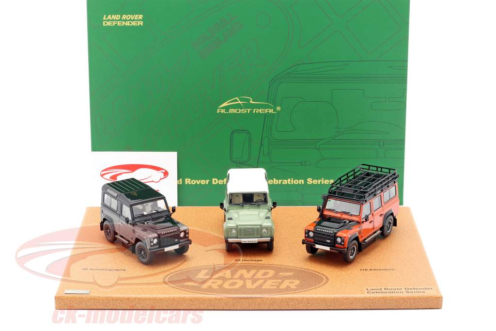 3-Car Set Land Rover Defender 2015 Celebration Series 1:43 Almost Real