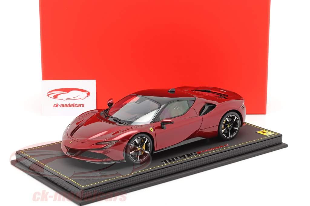 Ferrari SF90 Stradale Anno di costruzione 2019 fiorano rosso metallico / nero 1:18 BBR