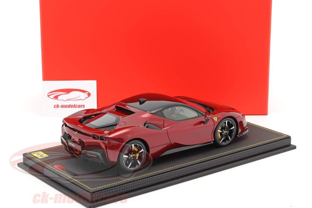 Ferrari SF90 Stradale Baujahr 2019 fiorano rot metallic / schwarz 1:18 BBR