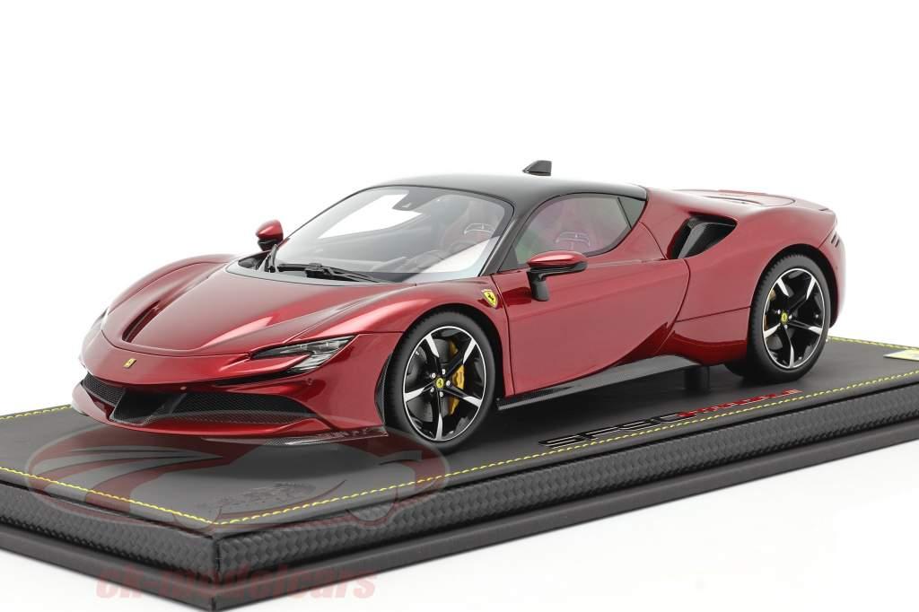 Ferrari SF90 Stradale Année de construction 2019 fiorano rouge métallique / noir 1:18 BBR