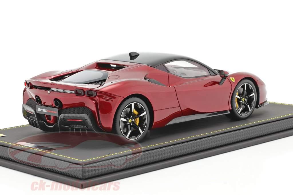 Ferrari SF90 Stradale year 2019 fiorano red metallic / black 1:18 BBR