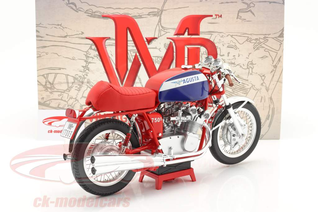MV Agusta 750S Baujahr 1972 rot / blau 1:6 Vintage Motor Brands