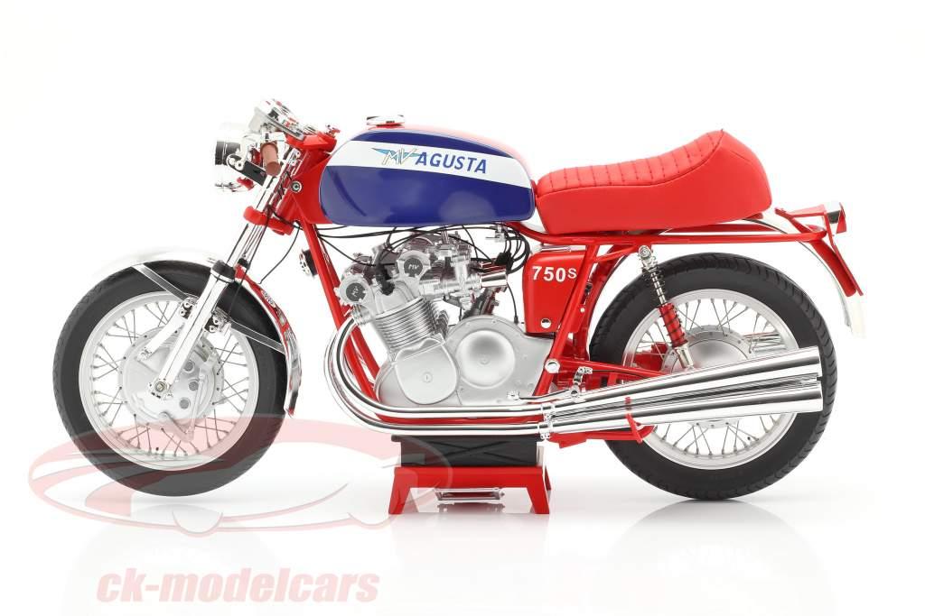 MV Agusta 750S Año de construcción 1972 rojo / azul 1:6 Vintage Motor Brands