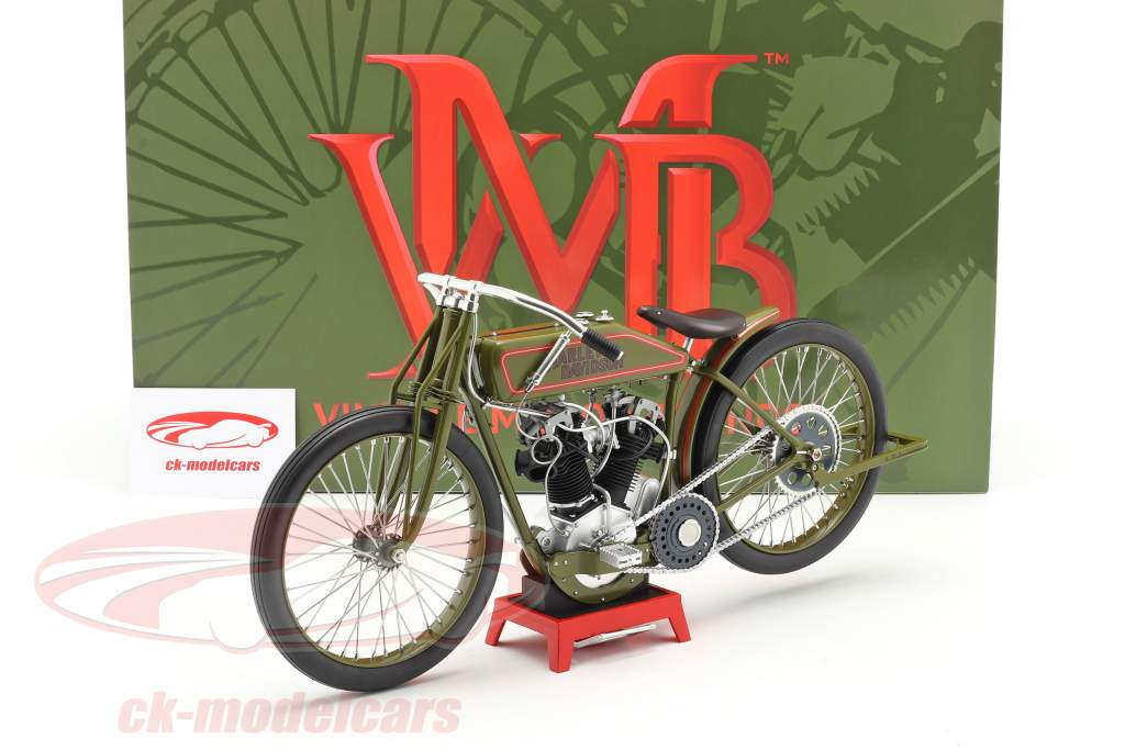 Harley Davidson 8-Valve Board Track Racer Baujahr 1923 grün 1:6 Vintage Motor Brands