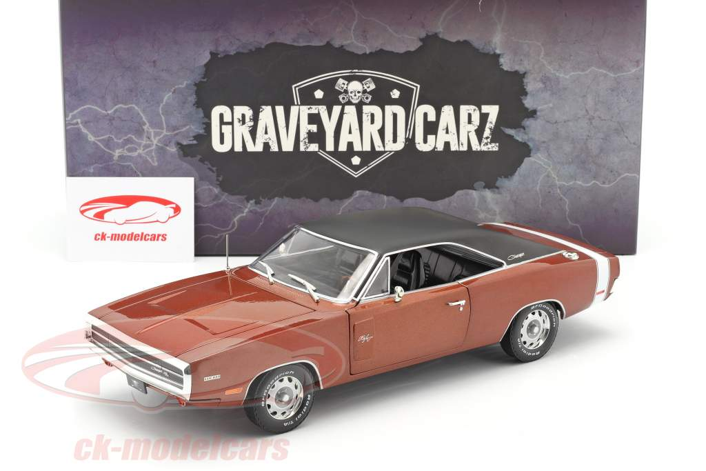 Dodge Charger R/T 1970 TV-Show Graveyard Carz (sinds 2012) donker oranje 1:18 Greenlight