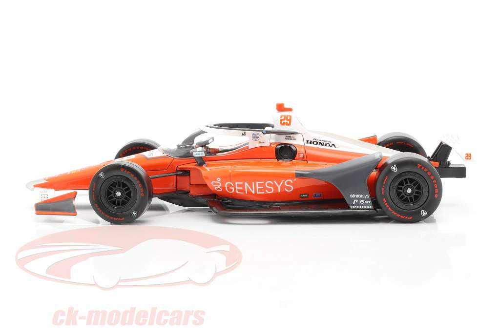 James Hinchcliffe Honda #29 Indycar Series 2020 Andretti Autosport 1:18 Luce verde