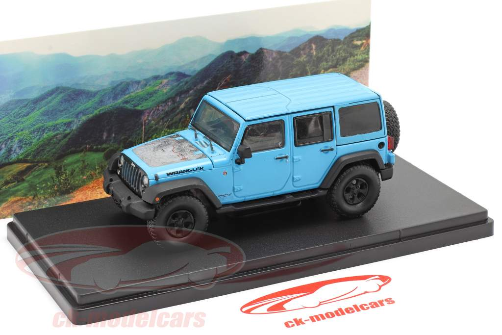 Jeep Wrangler Unlimited Big Bear year 2017 blue 1:43 Greenlight