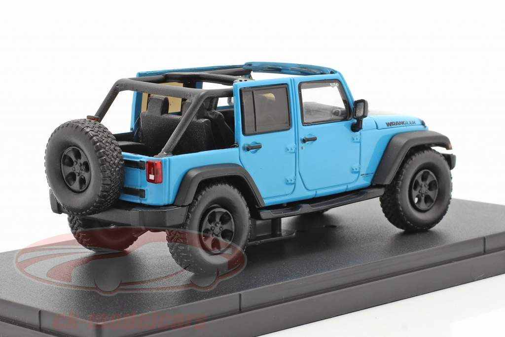 Jeep Wrangler Unlimited Big Bear Baujahr 2017 blau 1:43 Greenlight