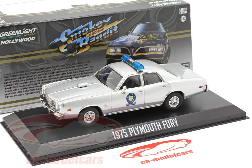 Plymouth Fury Arkansas Sheriff 1975 Smokey and the Bandit (1977) argento 1:43 Greenlight