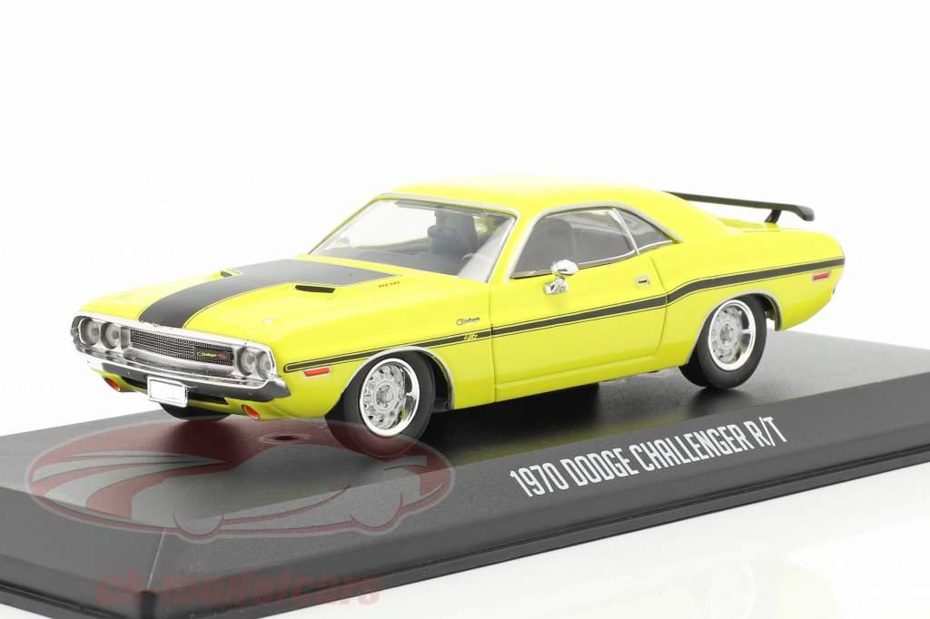 Dodge Challenger R/T 1970 séries de TV NCIS (Desde a 2004) amarelo 1:43 Greenlight