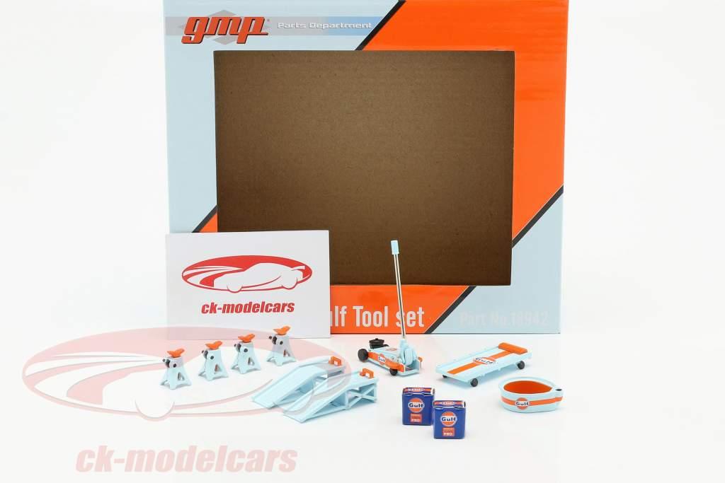 Gulf Tool Set bleu / Orange 1:18 GMP