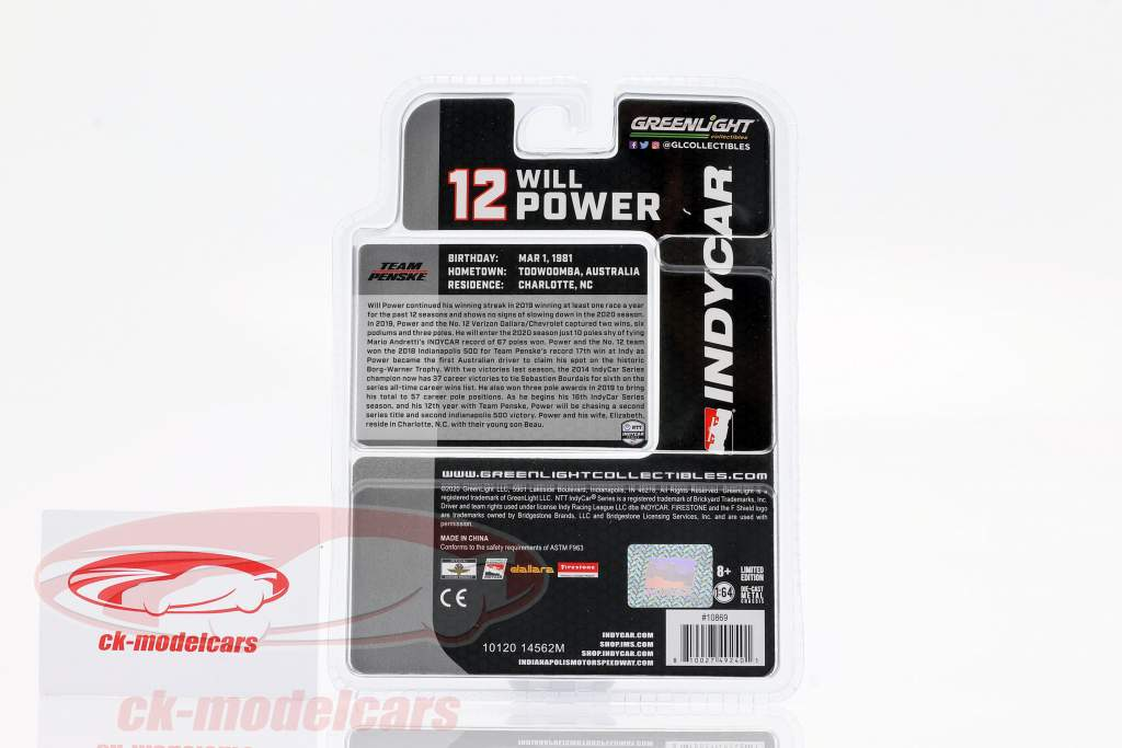 Will Power Chevrolet #12 IndyCar Series 2020 Team Penske 1:64 Greenlight