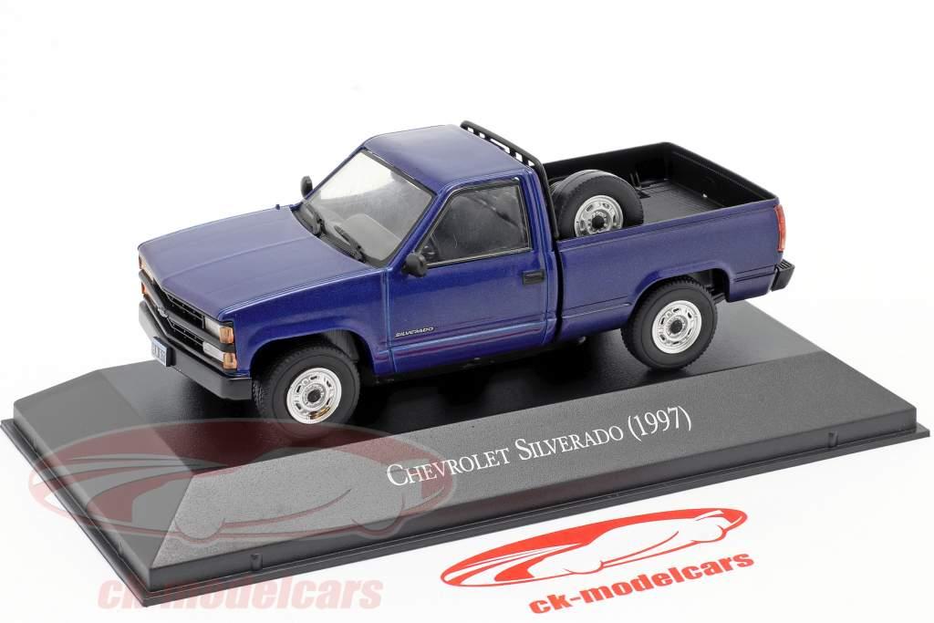 Chevrolet Silverado Año de construcción 1997 azul 1:43 Altaya