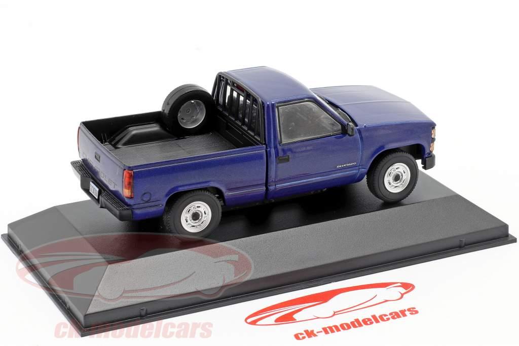 Chevrolet Silverado year 1997 blue 1:43 Altaya