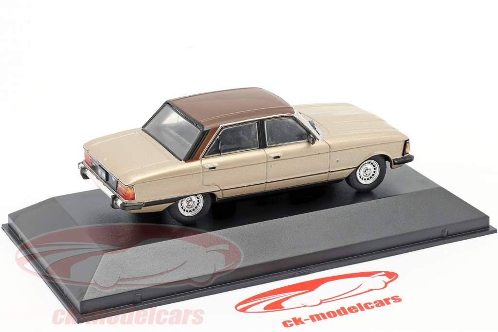 Ford Falcon Ghia Byggeår 1982 beige metallisk / Brun 1:43 Altaya