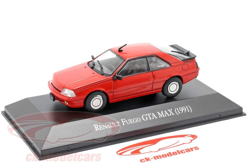 Renault Fuego GTA MAX Año de construcción 1991 rojo 1:43 Altaya