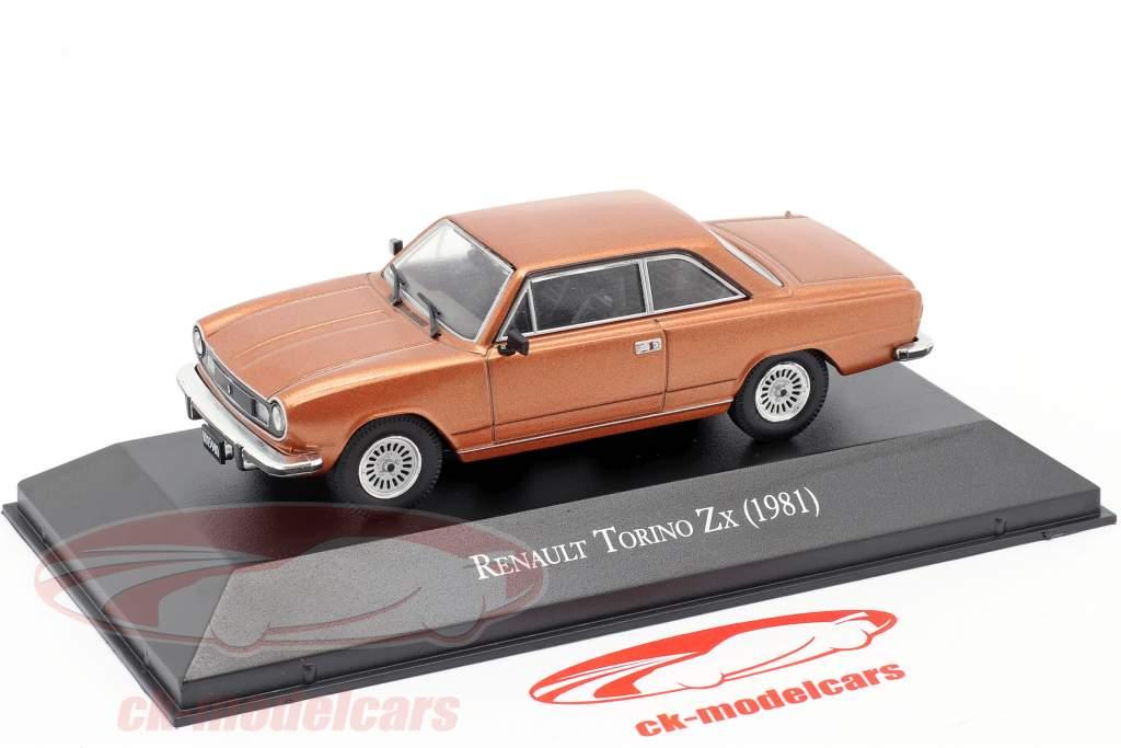 Renault Torino Zx year 1981 brown metallic 1:43 Altaya