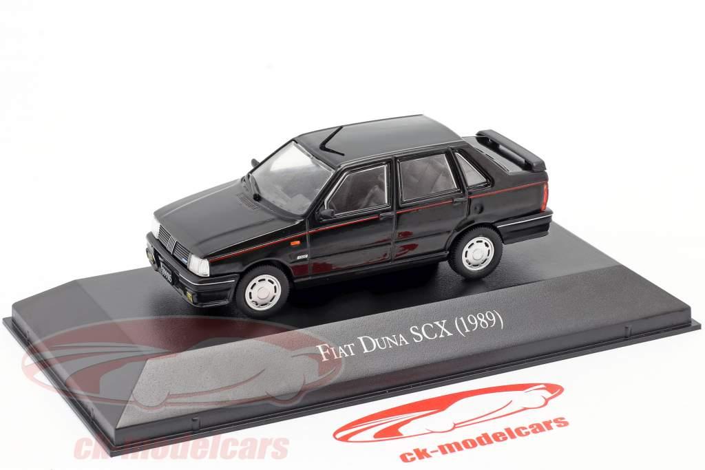 Fiat Duna SCX Année de construction 1989 noir 1:43 Altaya