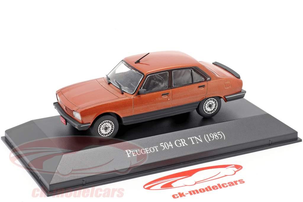 Peugeot 504 GR TN Año de construcción 1985 cobre metálico 1:43 Altaya