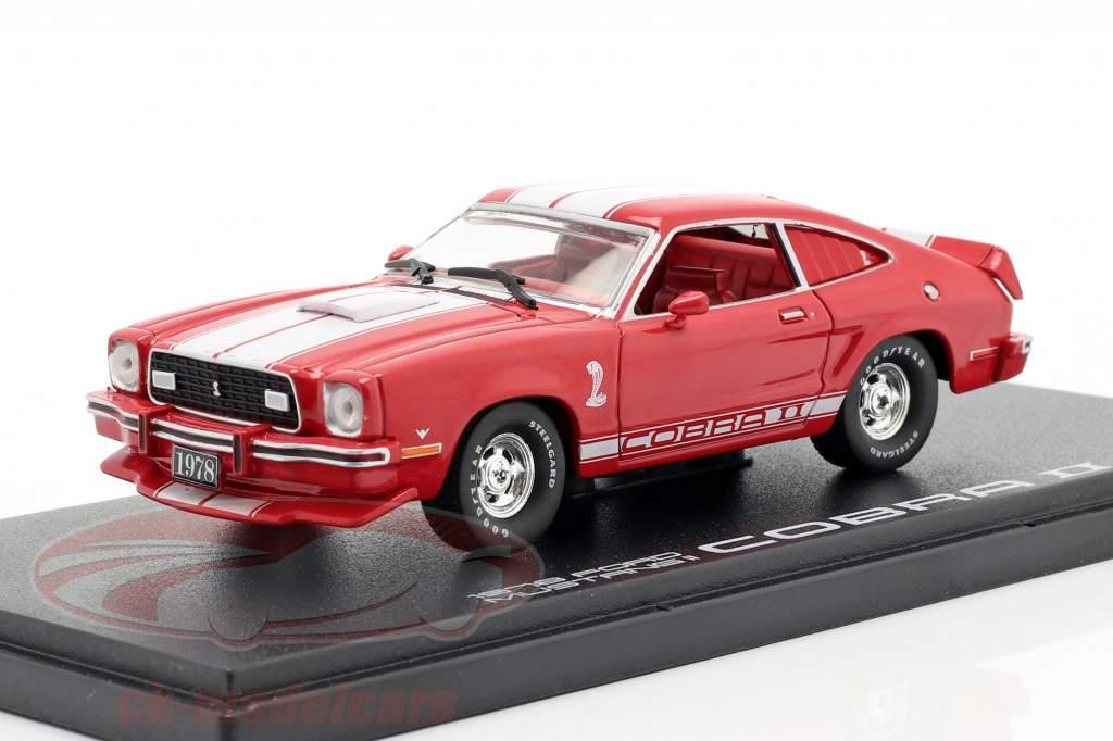 Ford Mustang II Cobra II Année de construction 1976 rouge / blanc 1:43 Greenlight