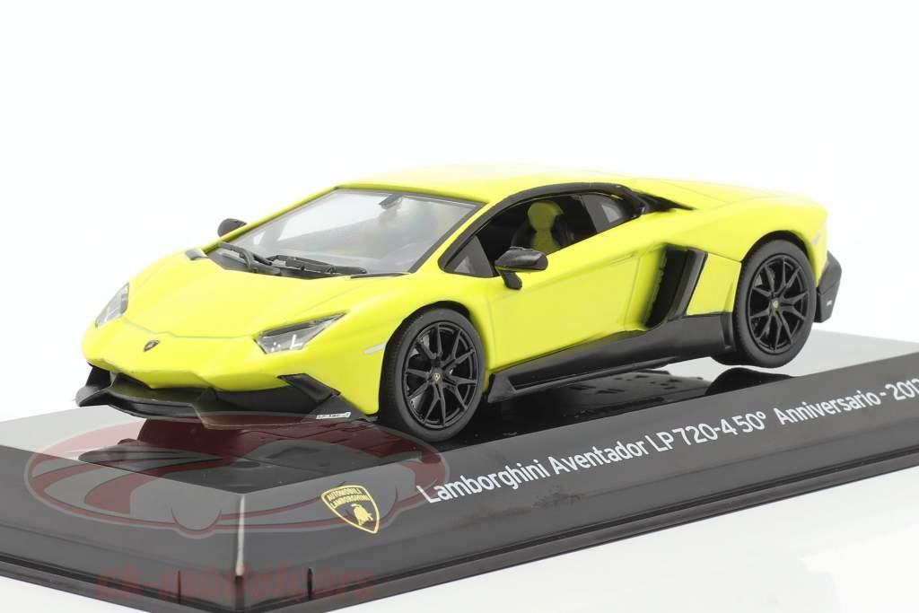 Lamborghini Aventador LP 720-4 50 Aniversário 2013 amarelo 1:43 Altaya