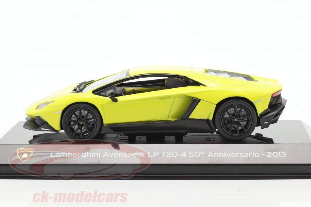 Lamborghini Aventador LP 720-4 50 ° Anniversario 2013 giallo 1:43 Altaya